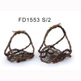 Factory Supplier Rattan Flower Basket with Handles
