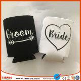 Custom Printing White Black Neoprene Bottle Cooler Holder