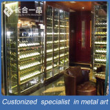 Wholesale Customized High-End Hairline Rose Gold Wine Cellar
