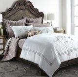 Luxury Top Quality Cotton White Embroidery Hotel Wedding Bedding Set