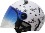 4/3 Open Face Helmet with Double Visor for Motorcycle and Bicycle