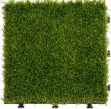 Building Material Outdoor Garden Floor Tile Interlocking Artificial Grass Tile