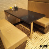 Customized Dubai Artificial Stone Black Fast Food Table for Canteen
