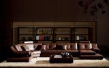 Living Room Furniture Corner Leather Modern Sofa (UL-NS417)