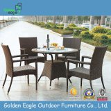 Classical Outdoor Rattan Dining Set with 4 Armed Chairs