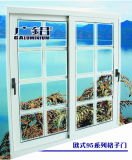 Thermal Break Powder Coating White Color Glass Sliding Window with Screen