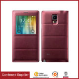 Mobile Phone Flip Leather Cover Case with View Window, Smart Sleep Wake Function