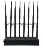 8 Antennas High Power GPS/ WiFi/ VHF/ UHF Cell Phone Jammer
