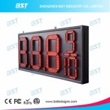 Red Color Semi-Outdoor LED Gas Price Changer Sign