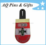 Cmyk Printing Lapel Pin Badge in Epoxy for Logo Emblem (badge-081)