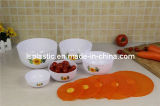 Set 5 PCS Colorful Plastic Food Containers (LS-1001)