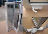 PVC Handcrank Casement Window with Hurricane Impact Glass