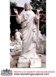 White Marble Jesus Sculpture (SK-2457)
