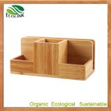 Customize Bamboo Multi-Function Bamboo Space Saving Desk Organizer
