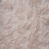 Cotton Voile Embroidery Fabric Woven for Dress Garment 60*60 90*88