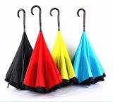 Reverse Umbrella Anti UV Rain Folding Windproof Princess Umbrella with J Hook