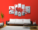 Framed Modern Home Decoration Wall Art Flower Oil Painting on Canvas (FL5-052)