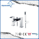 Deck Mount Double Holes Dual Handle Waterfall Shower Tap (AF6004-2A)