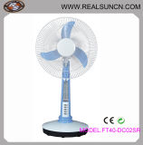 Battery and Solar Panel 16inch Solar DC Table Fan