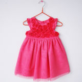 Fashion Hot Sales Infant Girl Flower Party Dress (KD-008)