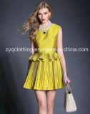 Fashion Dress, Hot Pleated Dress, Fashion Fake Two Piece Dress