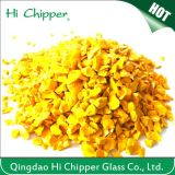 Opaque Yellow Landsacping Decorative Glass Chips
