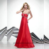 Women Sweatheart Beading Sexy Satin Evening Party Prom Dress