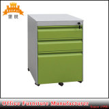 Office Metal Movable Mobile 3 Drawers Filing Cabinet with Wheels