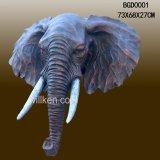 Resin 3D Elephant Wall Decor Animal Trophy Head Wall Hanging Decoration