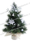 Mini Artificial Christmas Tree with Pre-Decorative Ornaments, 12 Inch (30cm) , with 40 Tips (DFW030-40CB/S)