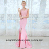 V Neck Long Bridesmaid Dresses Sexy Sleeveless Wedding Party Gown