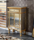 Solid Wood Mirrored Drawer Cabinet for Living Room