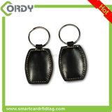 Embossing Logo 13.56MHz MIFARE Classic 1K leather RFID keyfob