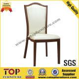 Hotel Wood Look Restaurant Metal Dining Chair