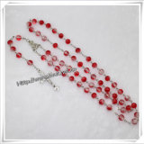 Factory Hot Selling! ! ! Fashion Cross Necklace Rosary Beads (IO-cr177)