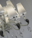 Fashion Chandelier Pendant Light with Cream Glass Shades/ Modern Chandelier Lamp (S818-10+5)