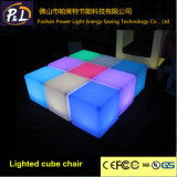 Home Furniture RGB Lighted LED Square Chair