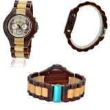 Mens Wood Watch Wood Digtal Watch