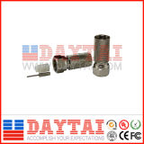 China 75 Ohm Female Rg11 CATV Twist on Connector