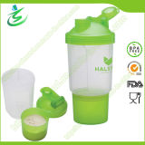 500ml Wholesale Custom Protein Shaker Bottle with Pill Container