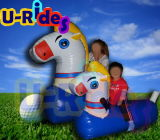 Inflatable Pony Racing Game with Inflatable Track