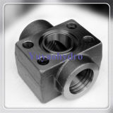 SAE Single Part Fitting Flange with Bsp 60° Cone Connector (according to BS 5200)