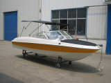New Hot Sale High Speed Fiberglass Boat Silver Craft