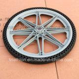 9X1.75 10X2 12X2.125 16X1.75 20X1.75 20X2 PU Foam Flat Free Tire with Plastic Rim