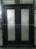 14 Gauge Steel Wrought Iron Entry Doors Double Doors Design