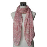 Lady Fashion Printed Spring Cotton Voile Scarf (YKY4067)