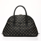 Rivet Semi-Cyrcle Lady PU Women Handbag (MBNO037120)