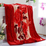 200*240cm 2ply Printing Mink Raschel Blanket for Dubai