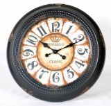 Country Style Metal Wall Clock Unique Wall Decor
