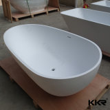 Mineral Casted Bathroom Soaking Solid Marble Bathtub